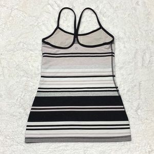Lululemon Athletica Stripped Tank Top Size-4